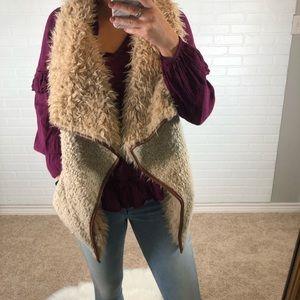 Fur Vest in Cream